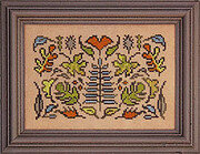 Arranging Leaves - Cross Stitch Pattern