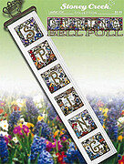 Spring Bell Pull (454) - Cross Stitch Pattern
