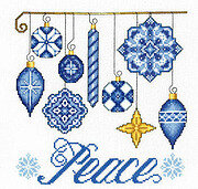 Peace Ornaments - Cross Stitch Pattern