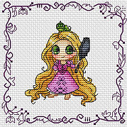 Baby Princess Rapunzel - Cross Stitch Pattern
