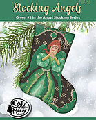 Stocking Angels - Green - Cross Stitch Pattern