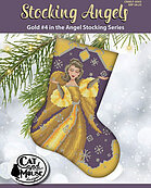 Stocking Angels - Gold - Cross Stitch Pattern