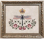 Dragonfly Queen -  Cross Stitch Pattern