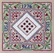 Sparkler in Patriotic Red - Cross Stitch Pattern