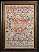 Sarah Mary Lankworthy 1727 -  Cross Stitch Pattern