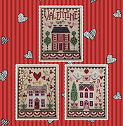 Valentine House Trio - Cross Stitch Pattern