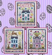 Easter House Trio - Cross Stitch Pattern