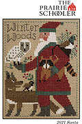 2021 Schooler Santa - Cross Stitch Pattern