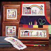 Schooler Kids  - Cross Stitch Pattern
