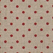 32 Count Petit Point Red/Natural Belfast Linen Fabric 36x55