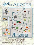 Arizona Map - Cross Stitch Pattern
