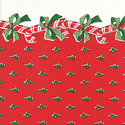 "Candy Canes Red 16"" x 18"" Christmas Toweling Fabric"