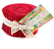 Moda Bella Solids Junior Jelly Roll - Christmas Red