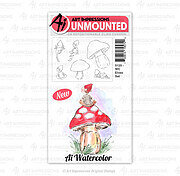 Watercolor Elves - Cling Stamp Set