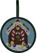 Gingerbread House Christmas Ornament - Needlepoint Kit