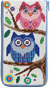 Eyeglass Case - Owls - Needlepoint Kit