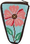 Scissor Case - Pink Flower - Needlepoint Kit