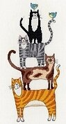 Cat Stack - Cross Stitch Kit