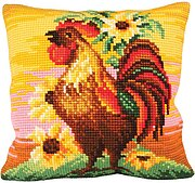 Fier A Bras - Stamped Needlepoint Cushion Kit