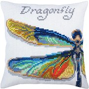 Dragonfly - Stamped Needlepoint Cushion Kit