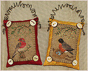 Button Up Birdies 3 - Cross Stitch Pattern