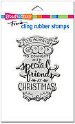 Always Friends - Christmas Cling Rubber Stamp