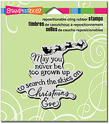 Christmas Sky - Cling Rubber Stamp
