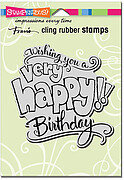 Great Big Happy Birthday - Cling Rubber Stamp