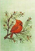 Cardinal (fabric included) - Cross Stitch Pattern