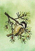 Chickadee (fabric included) - Cross Stitch Pattern