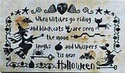 Halloween (The Moon Laughs) - Cross Stitch Pattern