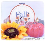 Simply Fall (w/button) Limited Edition - Cross Stitch Patter