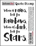 Look For Stars Quote - Cling Rubber Stamp