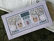 April - Pocket Calendar Cover - Cross Stitch Pattern