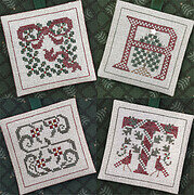 Alphabet Ornaments Five (QRST) - Cross Stitch Pattern