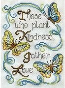 Butterfly Kindness Mini - Cross Stitch Kit