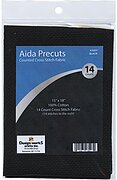 14 Count Black Aida Fabric - 15 x 18 inches