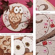 Owl Hoop - Cross Stitch Pattern