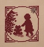 Little Girl With Teddy Bear - Cross Stitch Pattern