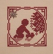Little Boy Playing With Truck - Cross Stitch Pattern
