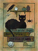 Library Cat - Cross Stitch Pattern