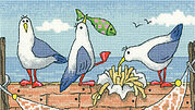 Fish N Chips - By the Sea - Cross Stitch Pattern