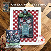 Merry - Chalk Full - Cross Stitch Pattern
