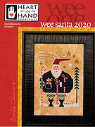 Wee Santa 2020 (with star charms) - Cross Stitch Pattern