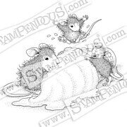 Ice Cream Crazy - House Mouse Cling Rubber Stamp