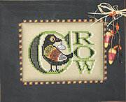 Vintage Halloween Crow - Cross Stitch Pattern