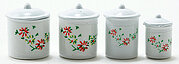 Canister Jars - White - Set of 4 - Dollhouse Miniature