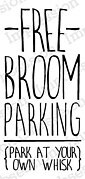 Broom Parking - Halloween Cling Stamp