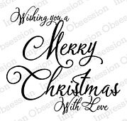 Christmas with Love - Christmas Cling Stamp