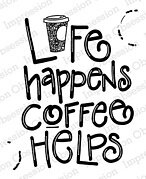 Coffee Helps - Cling Stamp